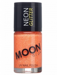 Verniz cor de laranja fosforescente com brilhantes 15 ml Moonglow © adulto