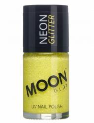 Verniz amarelo fosforescente com brilhantes 15 ml Moonglow © adulto