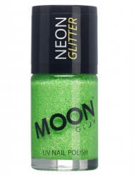 Verniz verde fosforescente com brilhantes 15 ml Moonglow © adulto