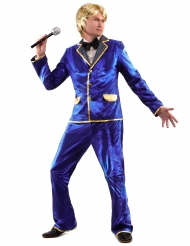Disfarce Disco brilhante azul homem