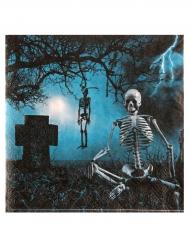 20 Guardanapos de papel Noite de terror