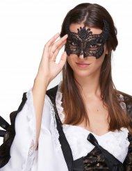 Máscara de renda preta - adulta