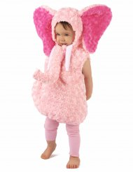 Disfarce elefante cor-de-rosa criança