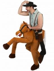 Disfarce homem andando à cavalo - adulto