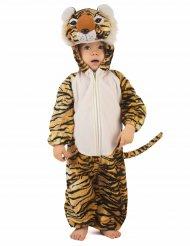 Disfarce tigre realista criança