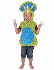 Disfarce dinossauro verde e azul criança
