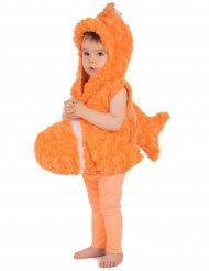 Disfarce peixe cor de laranja criança