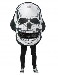 Disfarce Esqueleto gigante com boca articulada adulto