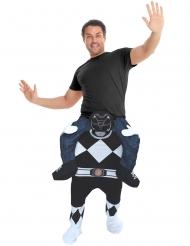 Disfarce homem as costas do Power Rangers™ preto adulto Morphsuits™