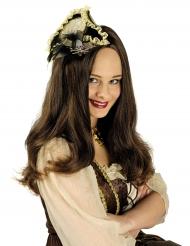 Mini chapéu pirata luxo - mulher