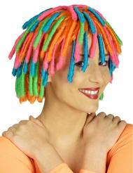 Peruca rasta girl colorida mulher
