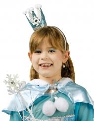Varinha e coroa de princesa azul menina