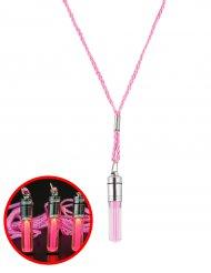 Colar luminoso cor-de-rosa