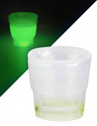 Copo de shot luminoso verde 50 ml