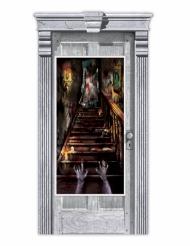 Decoração de porta Casa assombrada zombie