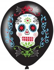 6 Balões látex Dia de los muertos