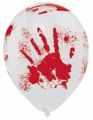 6 Balões látex Halloween sangrento