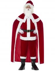 Disfarce Pai Natal luxo com capa adulto