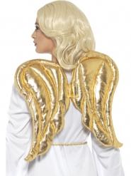 Asas de tecido dourado adulto