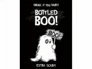 10 Decorações adesivas para garrafa Fantasma Halloween