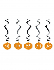 5 Decorações para pendurar espirais e abóboras Halloween