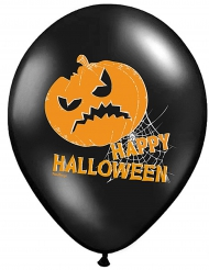 6 Balões látex Abóbora Happy Halloween