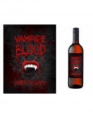 10 Rótulos para garrafa Halloween vampiro