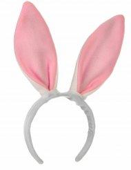Tiara orelhas rosas de coelho - criança