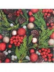 20 Guardanapos de papel azevinho de Natal