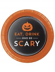 8 Pratos de cartão Halloween Eat Drink and Be scary