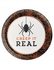 8 Pratos de cartão Halloween Creep it real