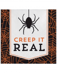 16 Guardanapos de papel Halloween Creep it real