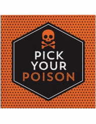 16 Guardanapos de papel Halloween Pick your poison