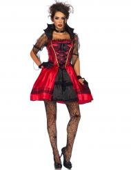 Disfarce vampira gótica sexy mulher Halloween
