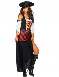 Disfarce pirata dos oceanos - Mulher