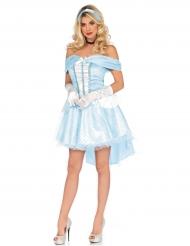 Disfarce princesa de vidro azul mulher