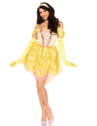 Disfarce princesa mágica amarela mulher
