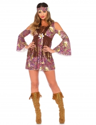 Disfarce hippie mulher