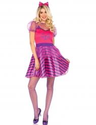 Disfarce Miss Cheshire gato cor-de-rosa mulher