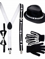 Kit gentleman esqueleto adulto Halloween