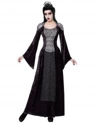 Disfarce rainha escura mulher Halloween