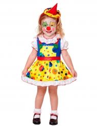 Disfarce mini palhaço amarelo menina