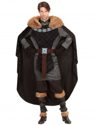 Disfarce príncipe escuro medieval homem