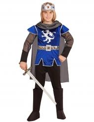 Disfarce rei cavaleiro azul criança