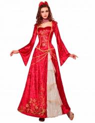 Disfarceprincesa renascimento vermelho mulher