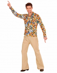 Camisa groovy bubbles anos 70