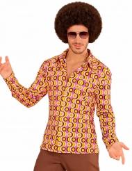 Camisa groovy disco anos 70