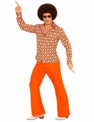 Camisa groovy retro anos 70 homem