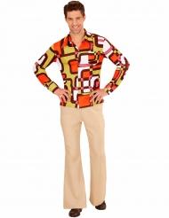 Camisa groovy geométroica anos 70