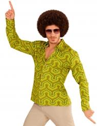 Camisa groovy verde anos 70